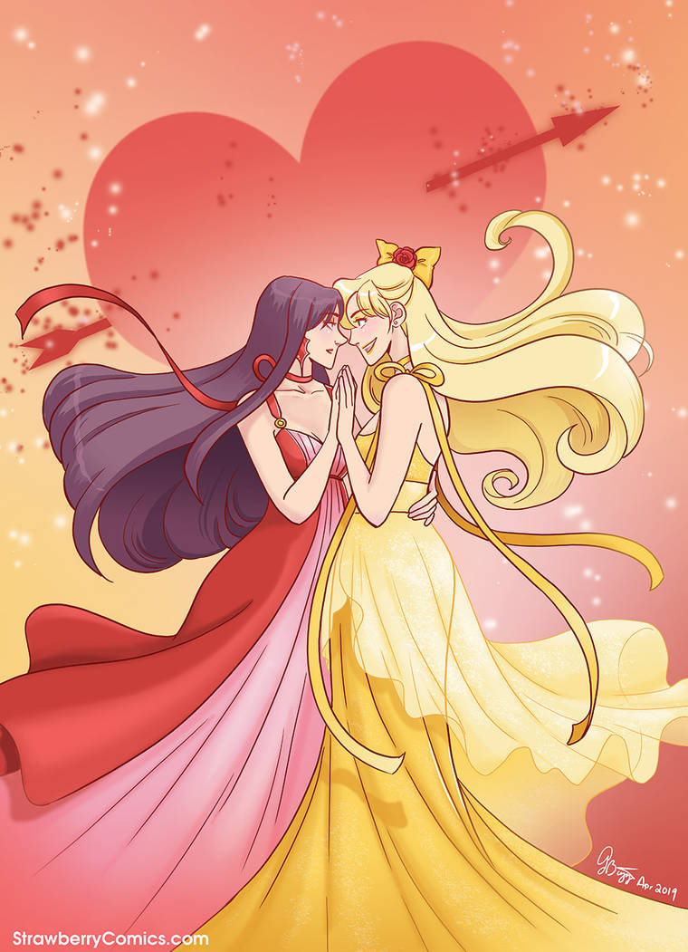Sailor Mars x Sailor Venus dance by strawberrygina