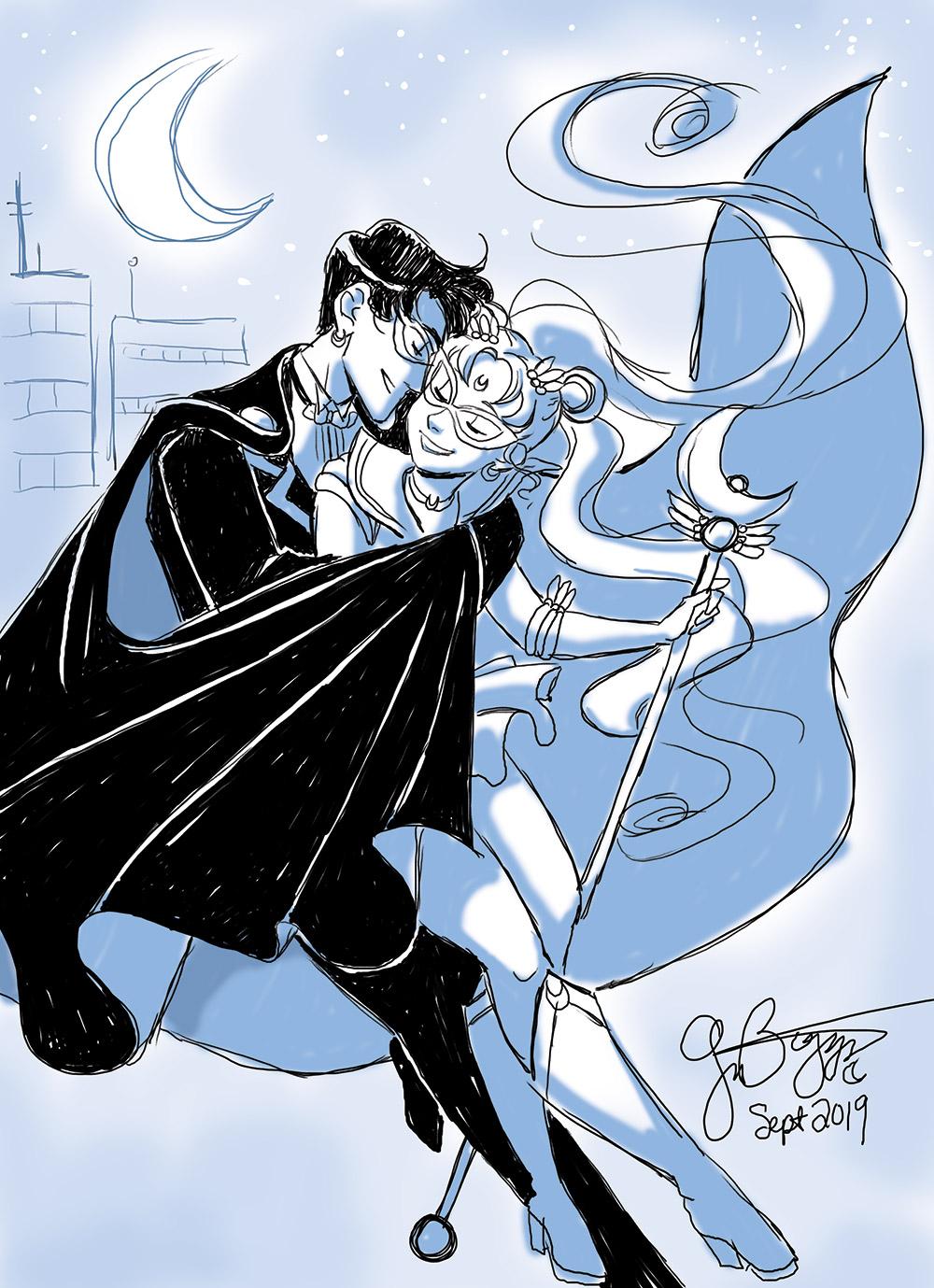 Sailor Moon - Cuddles by Moonlight