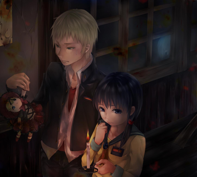 Corpse Party Kishinuma Yoshiki And Shinozaki Ayumi By Spriwel On