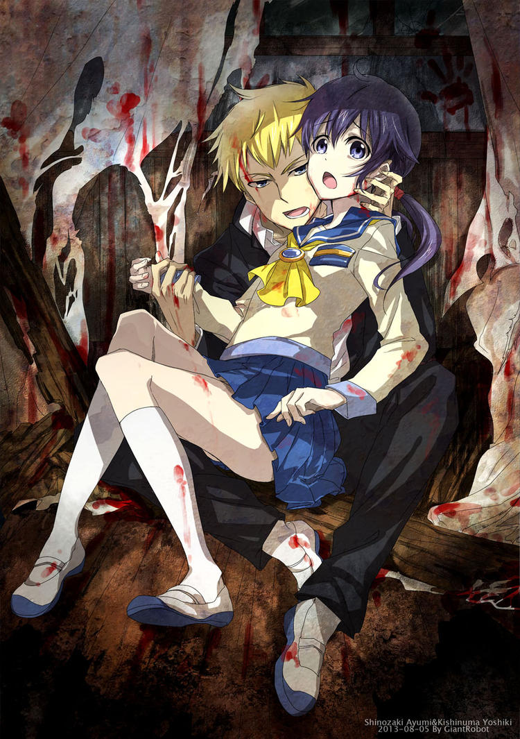 Corpse party yoshiki x satoshi corpse party yoshiki and ayumi