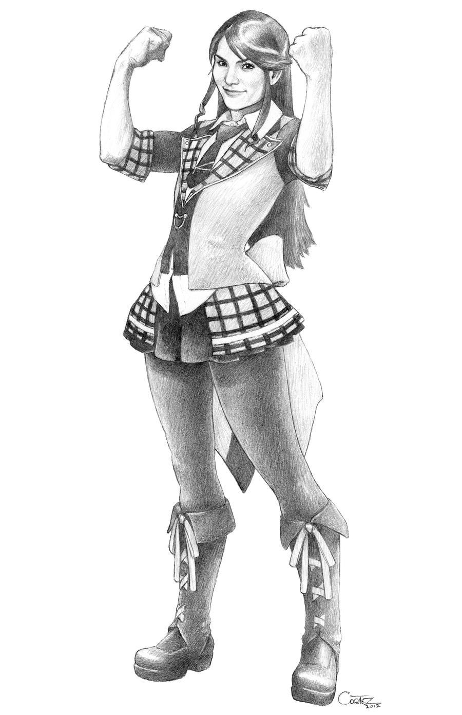 AKB48: Akimoto Sayaka - AKB0048 version by Sumo0172
