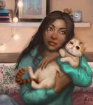 Cat Hugger by Natalie-Bear