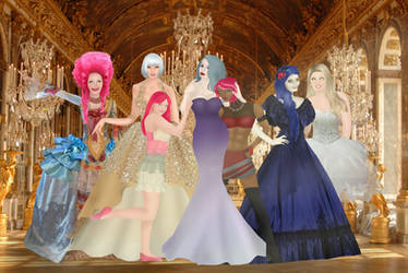 Muffins at The Grand Galloping Gala (Background) by AeleLon