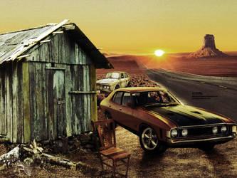 Uma casa e um carro no deserto by GRTp