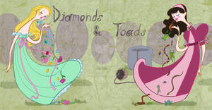 Book Art- Diamonds and Toads