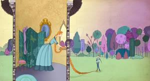 Book Art- Rapunzel