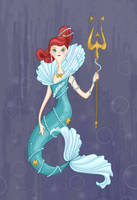 Ariel- Queen of the Sea by spicysteweddemon