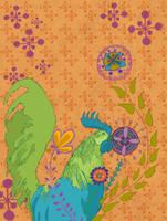 Pattern Design- Rooster by spicysteweddemon