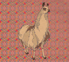 Pattern Design- Llama by spicysteweddemon