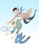 Cas Gives Dean a Ride- tee hee by spicysteweddemon