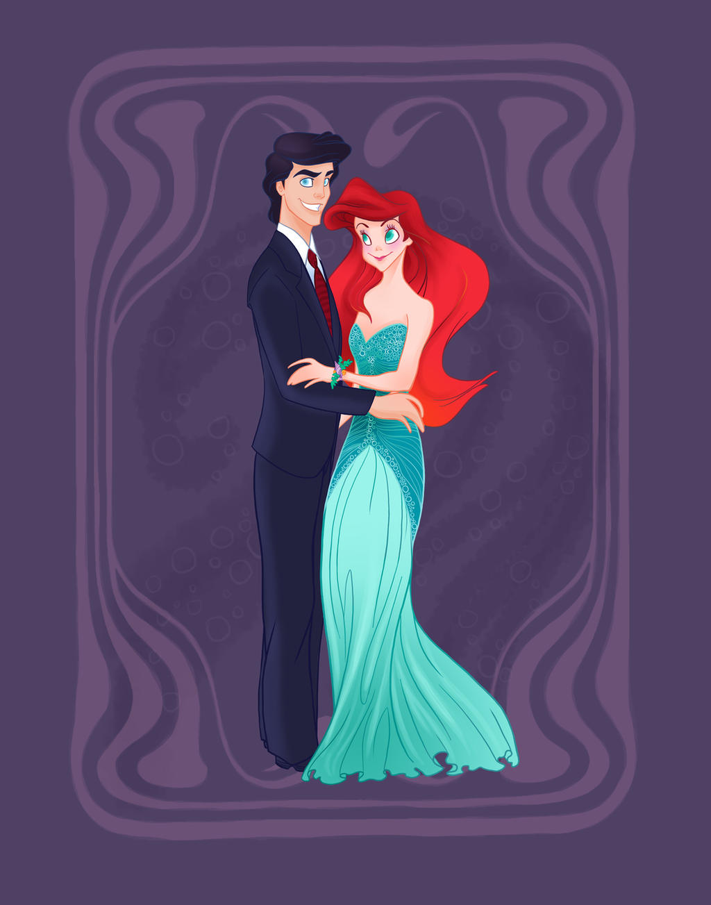 Disney Prom- The Little Mermaid by spicysteweddemon on ...