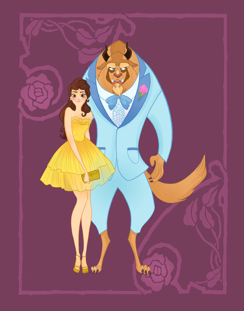 Disney Prom Beauty And The Beast By Spicysteweddemon