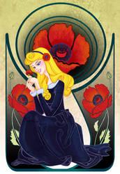Disney Flowers- Aurora by spicysteweddemon