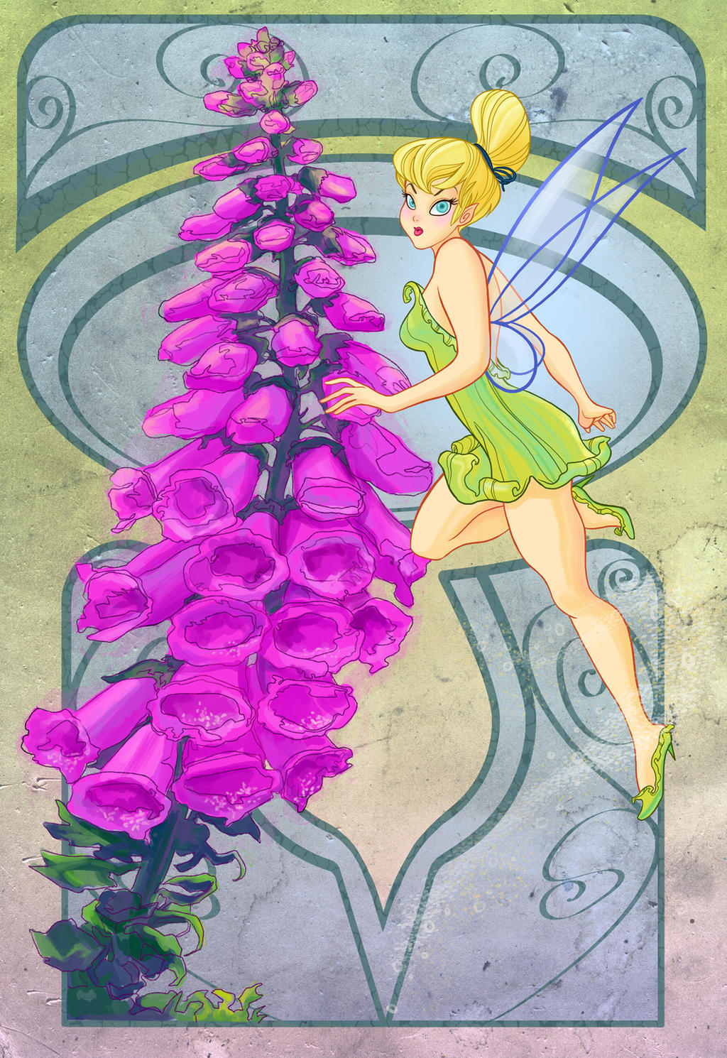 Disney Flowers- Tinkerbell by spicysteweddemon