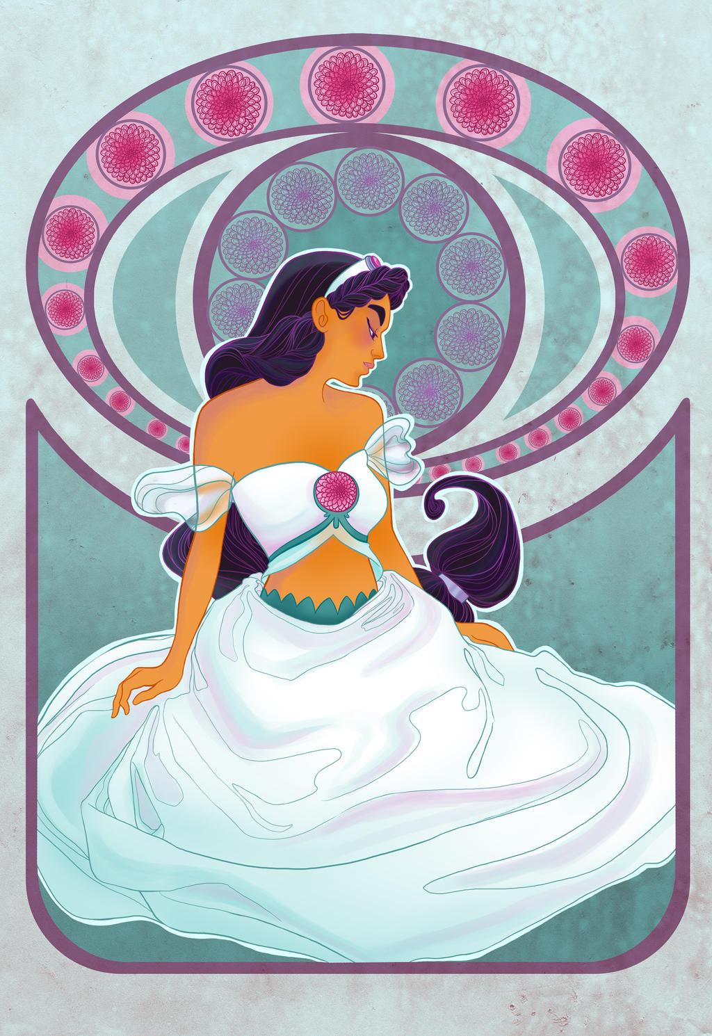 Disney Flowers- Jasmine by spicysteweddemon