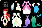 Ariel the Little PaperDoll - Complete