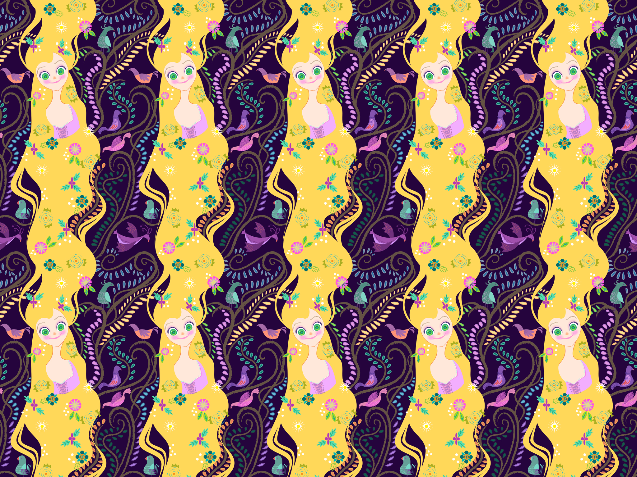 Rapunzel Wallpaper by spicysteweddemon