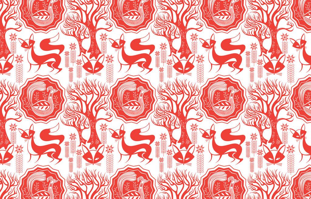 Lucky Foxy Pattern by spicysteweddemon