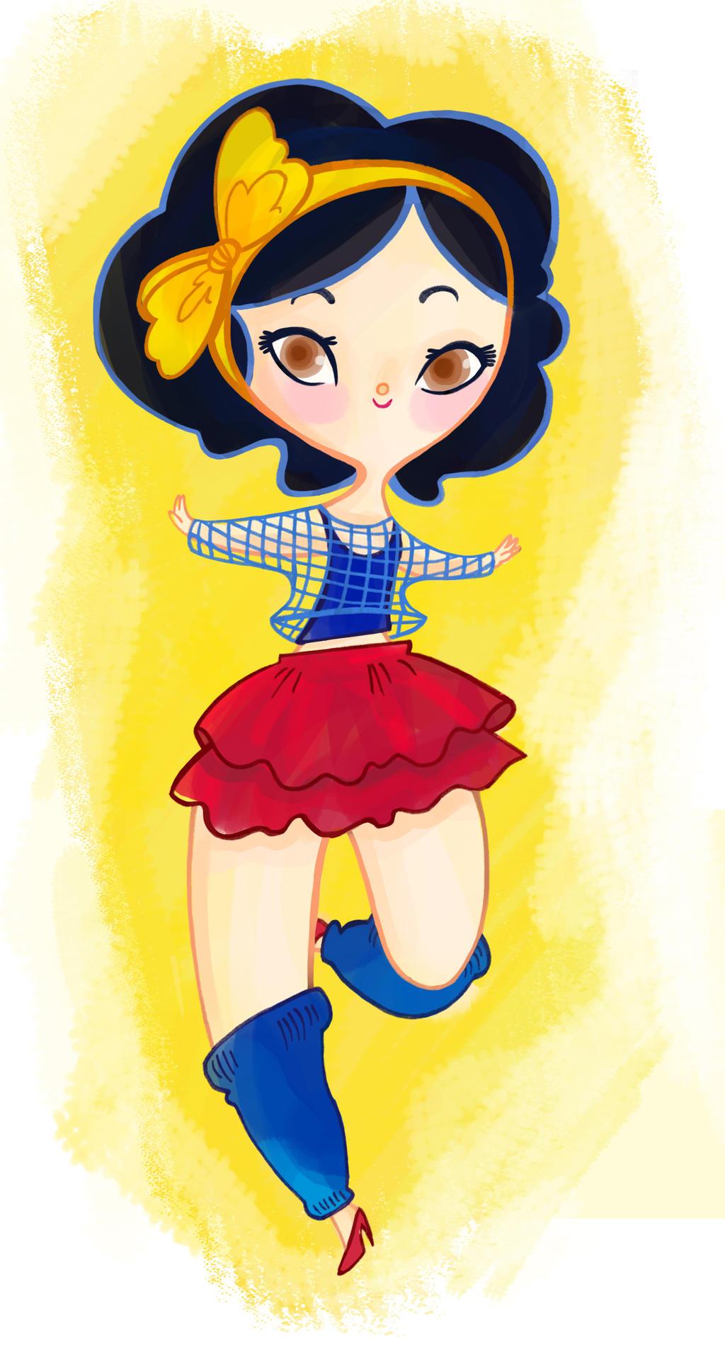 Disney 80's Ladies- Snow White by spicysteweddemon