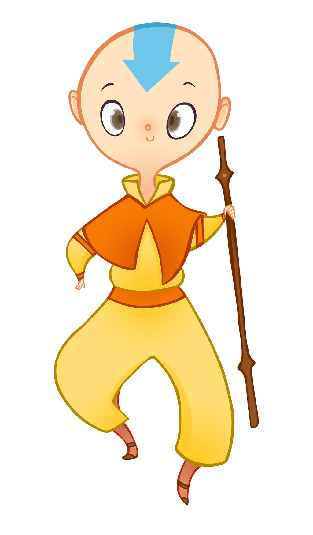 Aang the Airbender by spicysteweddemon