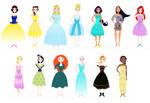 Disney Paper Dolls Example Sheet