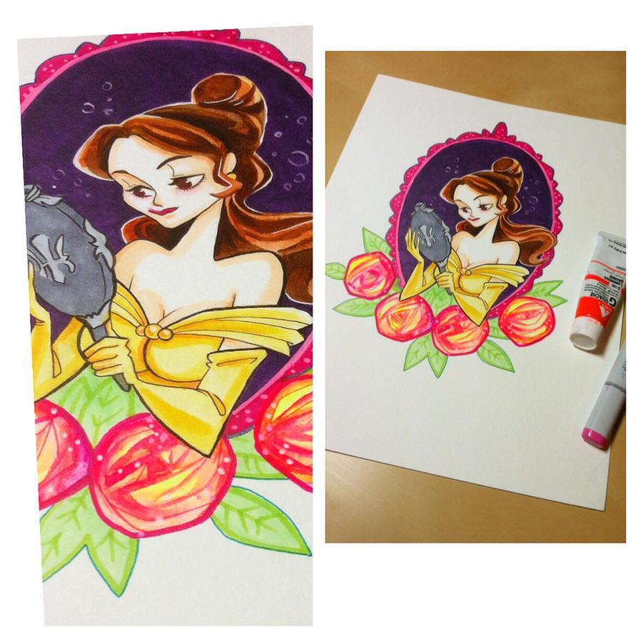 Belle painting by spicysteweddemon