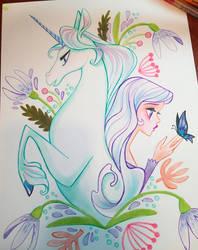 Last Unicorn Markers by spicysteweddemon