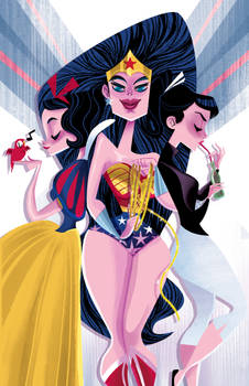 Wonder Woman, Audrey, and Snow