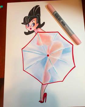 Umbrella Pinup
