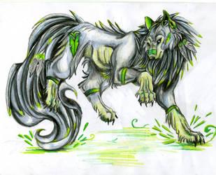 earth wolf by VioletMinim