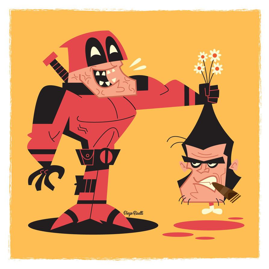 Deadpool Vs Wolverine by funky23