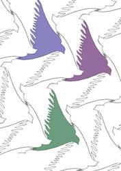 tessellation:1000 birds by sakuramederu