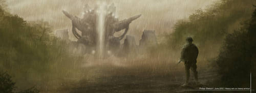 heavy rain on heavy armour by NextTuesdayDesign