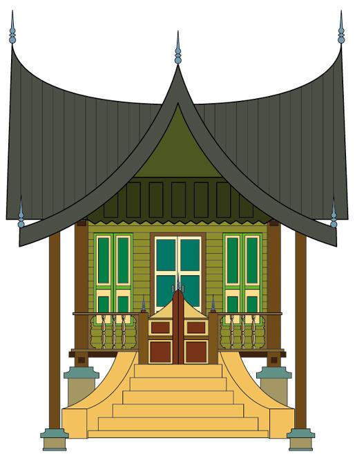 mewarnai rumah gadang adat minangkabau