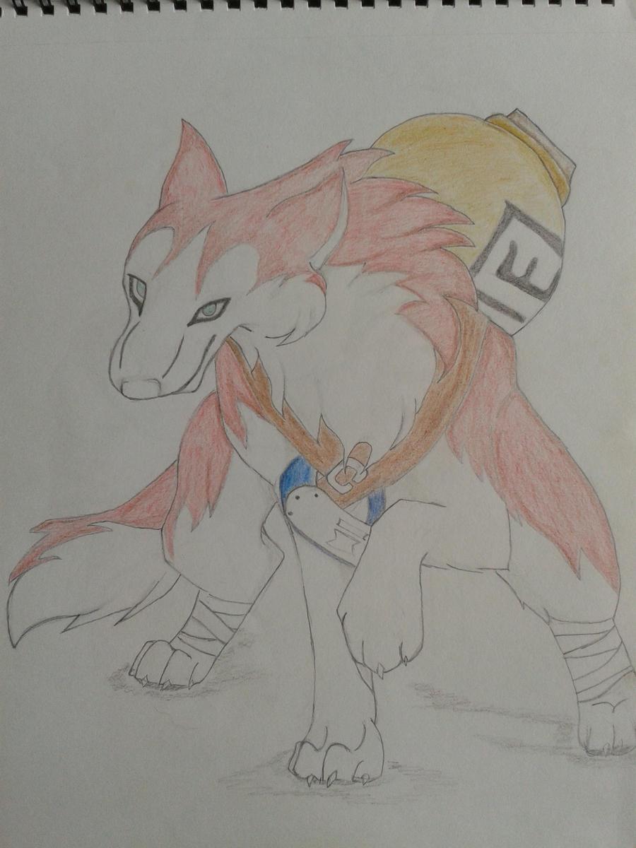 Gaara... Wolf of the Desert by WolfSpiritlover on deviantART Gaara As A Wolf