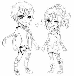 Skye: Endless Realm Couple Design by HonoBread
