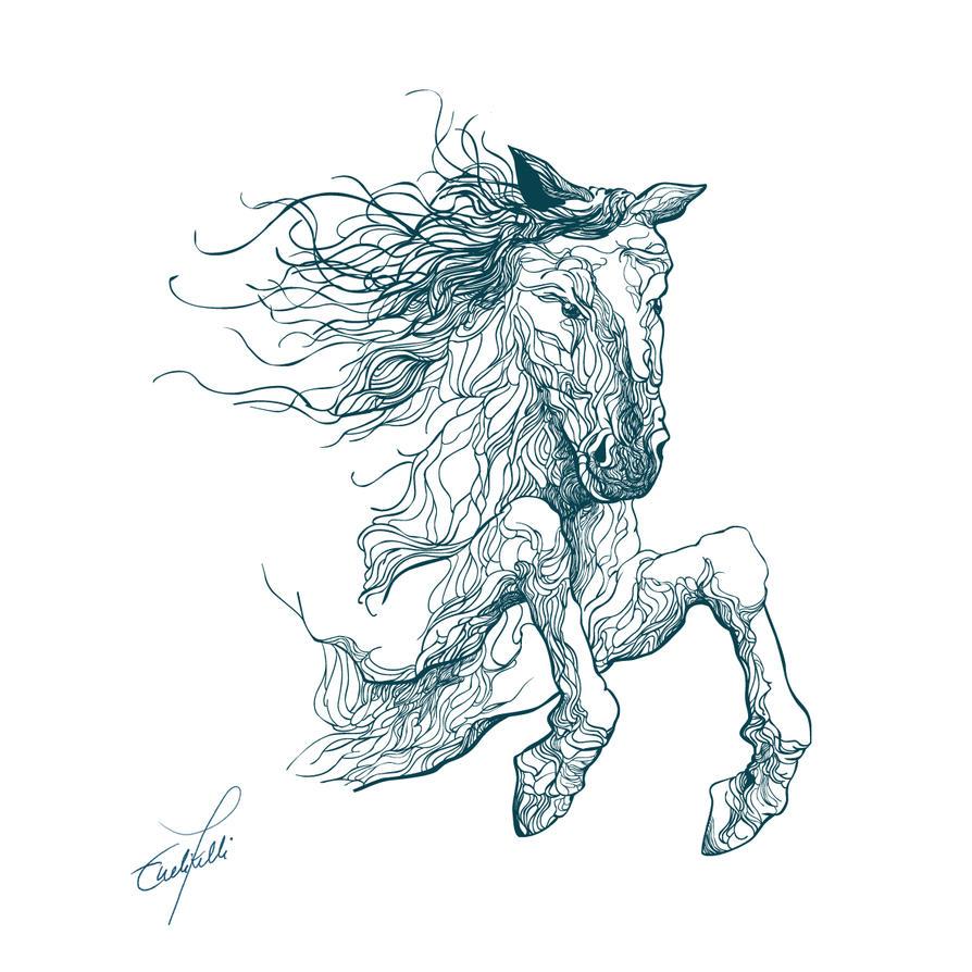 running horse tattoo designs