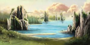 Landscape study by Lidivien