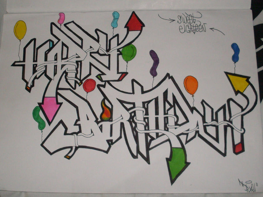 Happy Birthday Schrift Graffiti ~ Graffiti happy birthday new calendar template site