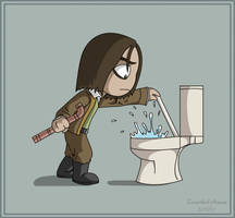 Water Ninja by ZerachielAmora