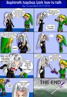 Seph teaches Link how to talk by ZerachielAmora