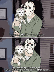Jason and Muffin [Meme] by ZerachielAmora