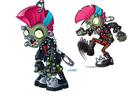 Concept art punk zombie (not made by me) by suparmarkeogai996