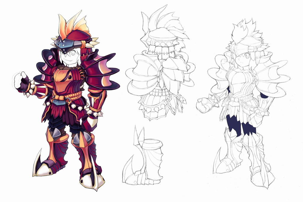 D Line Drawing Game : Knight concept art by d faultx on deviantart