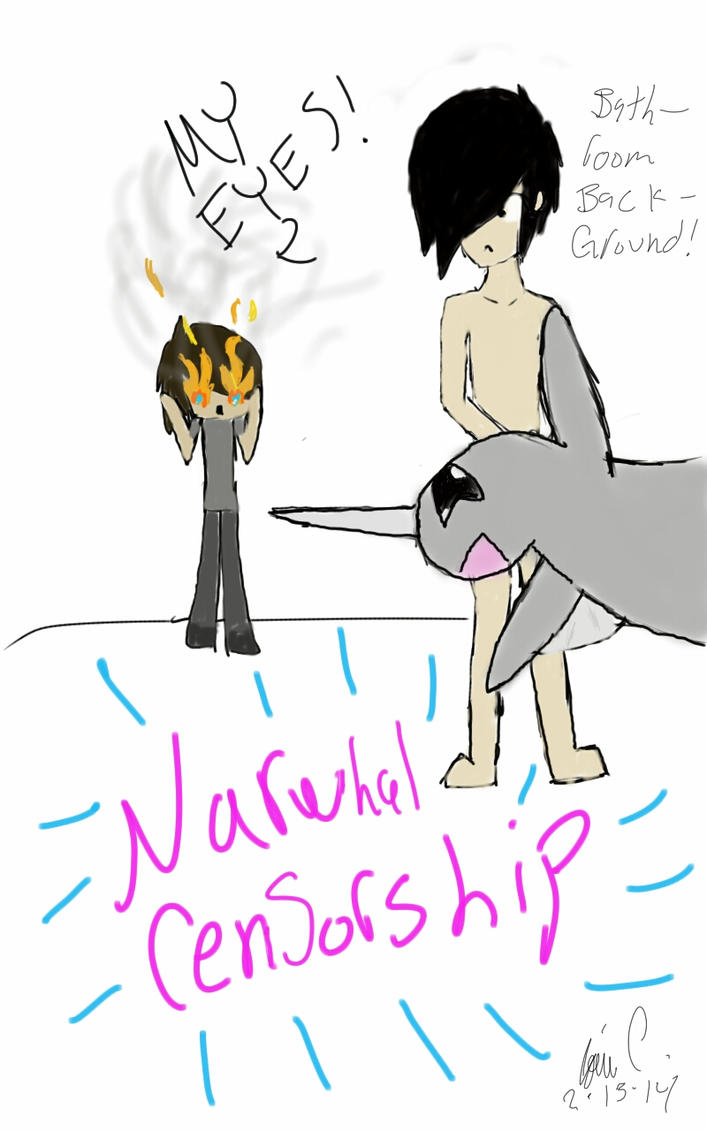 draw phil naked narwhal censorship by jshewolfxxx