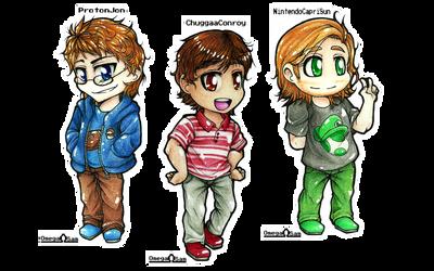 Chibi Runaway Guys by OmegaSam7890