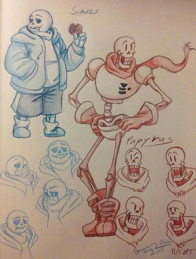 Skelebros Sketch by OmegaSam7890