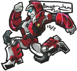 Inktober Day 8: Red Alert by OmegaSam7890