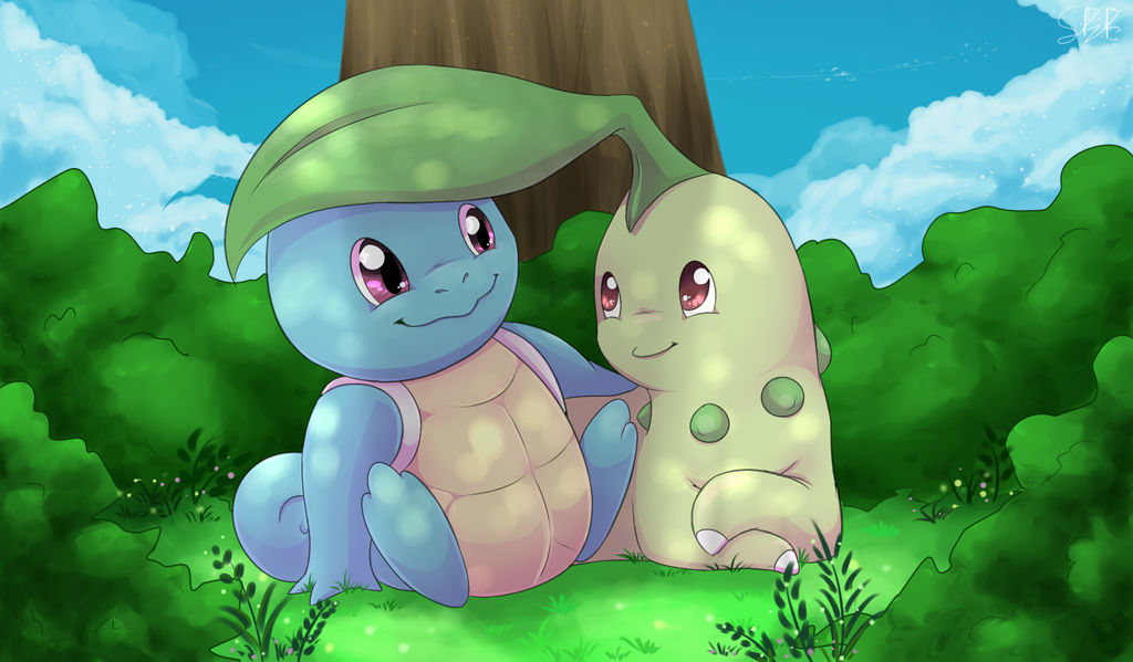 Squirtle and Chikorita