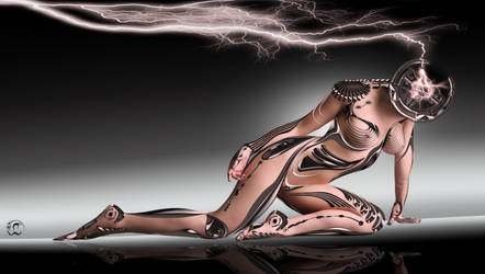 Cyborg Girl 2 Wallpaper by Lukay7